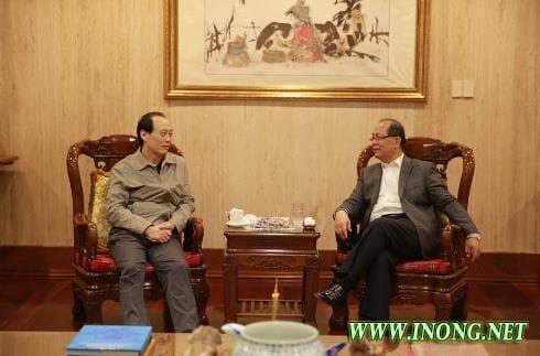 邱小琪大使会见农业部副部长余欣荣